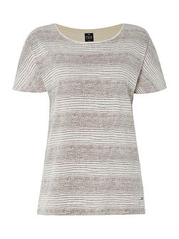 Dolman Cap Sleeve Striped Top