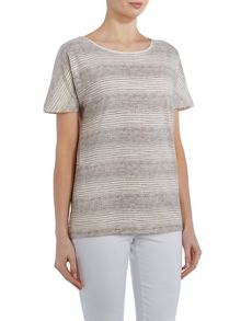 TIGI Dolman Cap Sleeve Striped Top