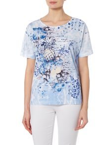 TIGI Short Sleeve Boat Neck Top