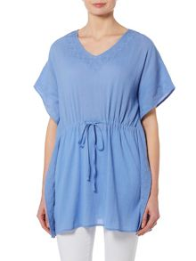 TIGI Cap Sleeve Embroidered Kaftan