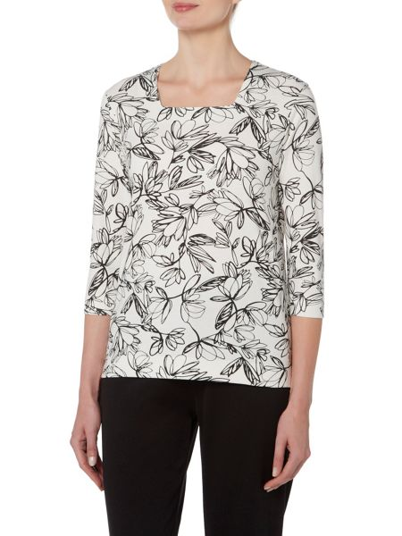 TIGI Petal All Over Print Top