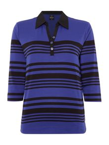 TIGI Three Quarter Sleeve Polo Neck Shirt