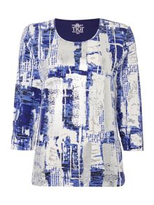 TIGI Geometric Print Top