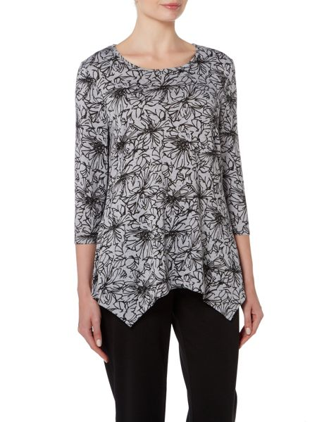 TIGI All Over Print Cowl Neck Top