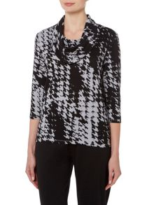 TIGI Dogtooth All Over Print Top