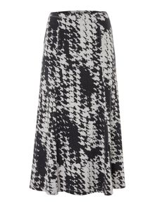 TIGI Dogtooth All Over Print Skirt