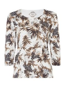 TIGI Leaf All Over Print Top