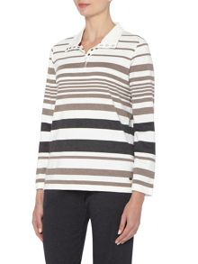 TIGI Engineered Stripe Top