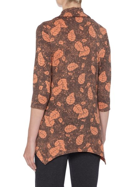 TIGI Cowl Neck All Over Print Top