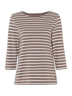 Stripe Crew Neck Top