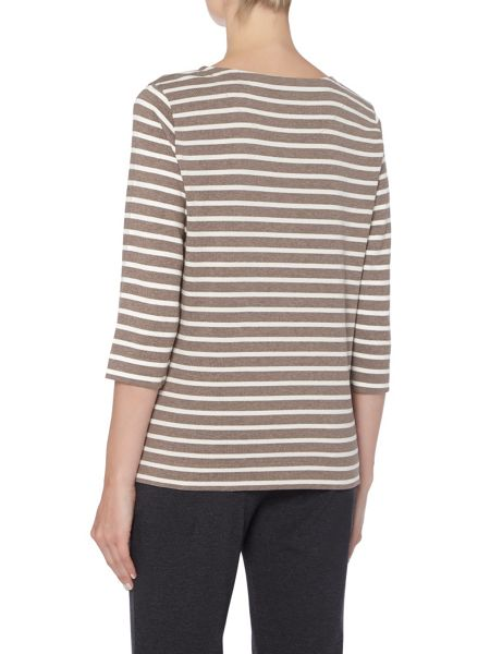 TIGI Stripe Crew Neck Top