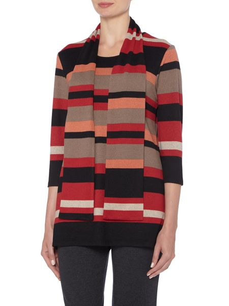 TIGI Scarf Neck Stripe Tunic