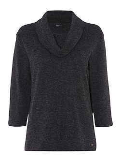 Knitted Cowl Neck Top