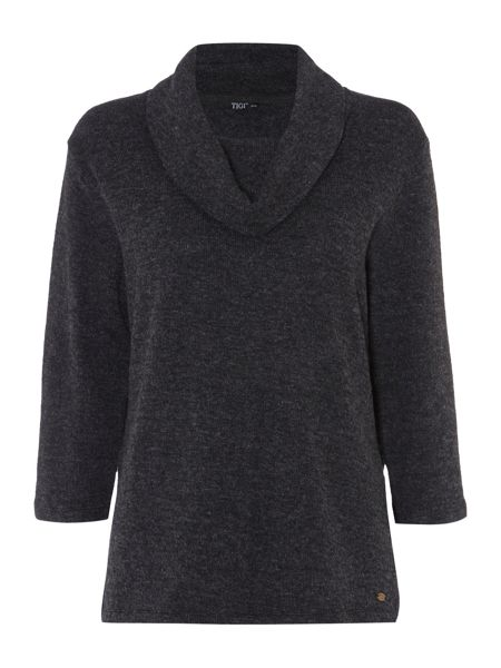 TIGI Knitted Cowl Neck Top