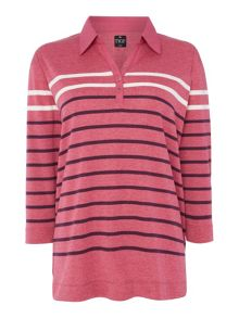 TIGI Engineered Polo Stripe Shirt