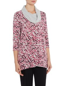TIGI Zig Zag All Over Print Tunic