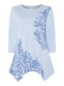 TIGI Paisley Placement Print Top