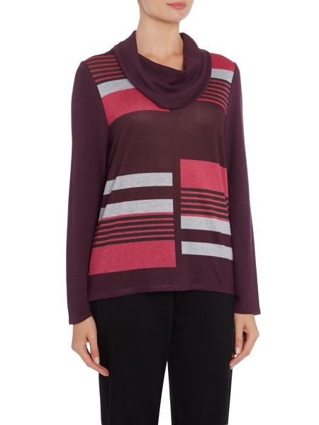 TIGI Asymmetric All Over Stripe Top