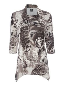 TIGI Paisley All Over Print Top