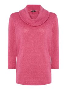TIGI Three Quarter Sleeve Cowl Neck Top