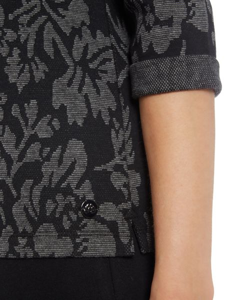 TIGI Square Neck Jacquard Top