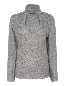TIGI Long Sleeve Cowl Neck Jumper