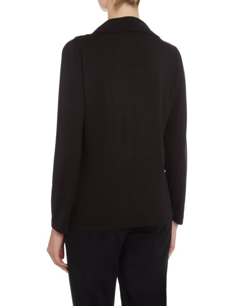 TIGI Textured Cowl Neck Top