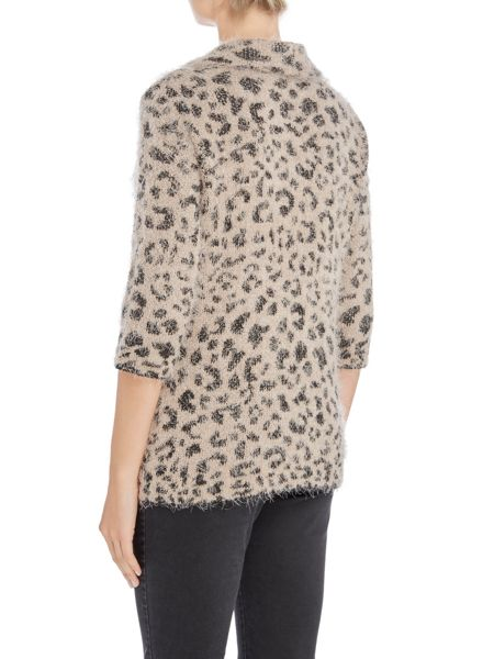 TIGI Furry Animal Print Jumper