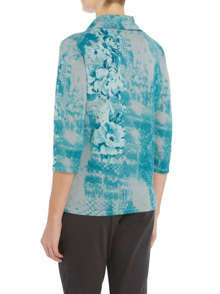 TIGI Floral All Over Print Top