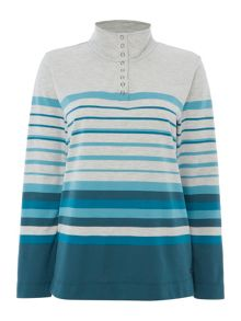 TIGI Stripe Long Sleeve Top