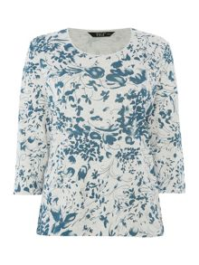 TIGI Floral Crew Neck Top