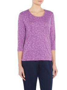 TIGI Crew Neck All Over Print Top