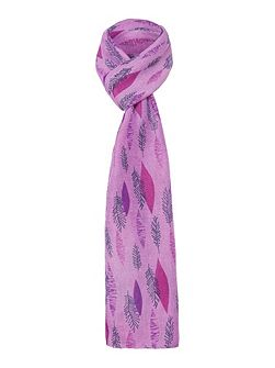 Leaf All Over Print Scarf