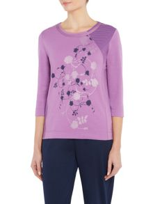 TIGI Floral Placement Print Top