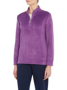 TIGI Velour Long Sleeve Top