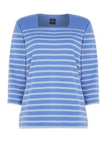TIGI Stripe Square Neck Top