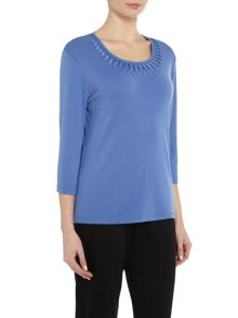 TIGI Three Quarter Sleeve Crew Neck Top