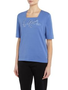 TIGI Diamante Half Sleeve Top