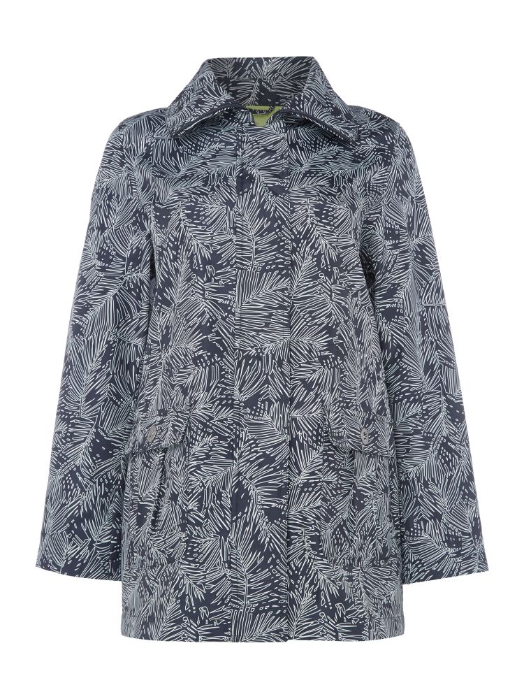 TIGI Leaf All Over Print Jacket, Blue
