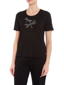 TIGI Embroidered Dragonfly Top