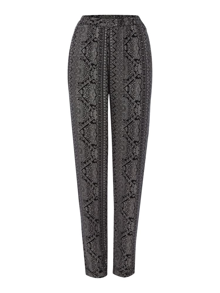 TIGI Print Trousers, Black