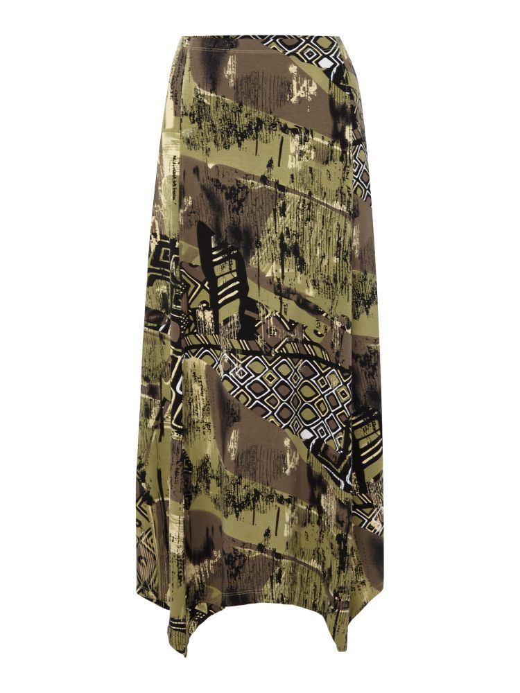 TIGI Tribal Print Skirt, Khaki