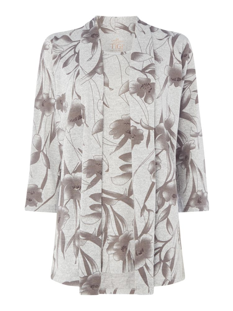 TIGI Two In One Print Top, Grey