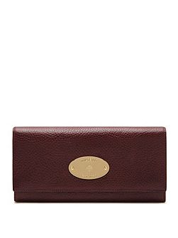 Oval plaque continental wallet