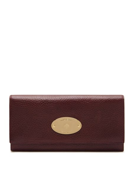 Mulberry Oval plaque continental wallet