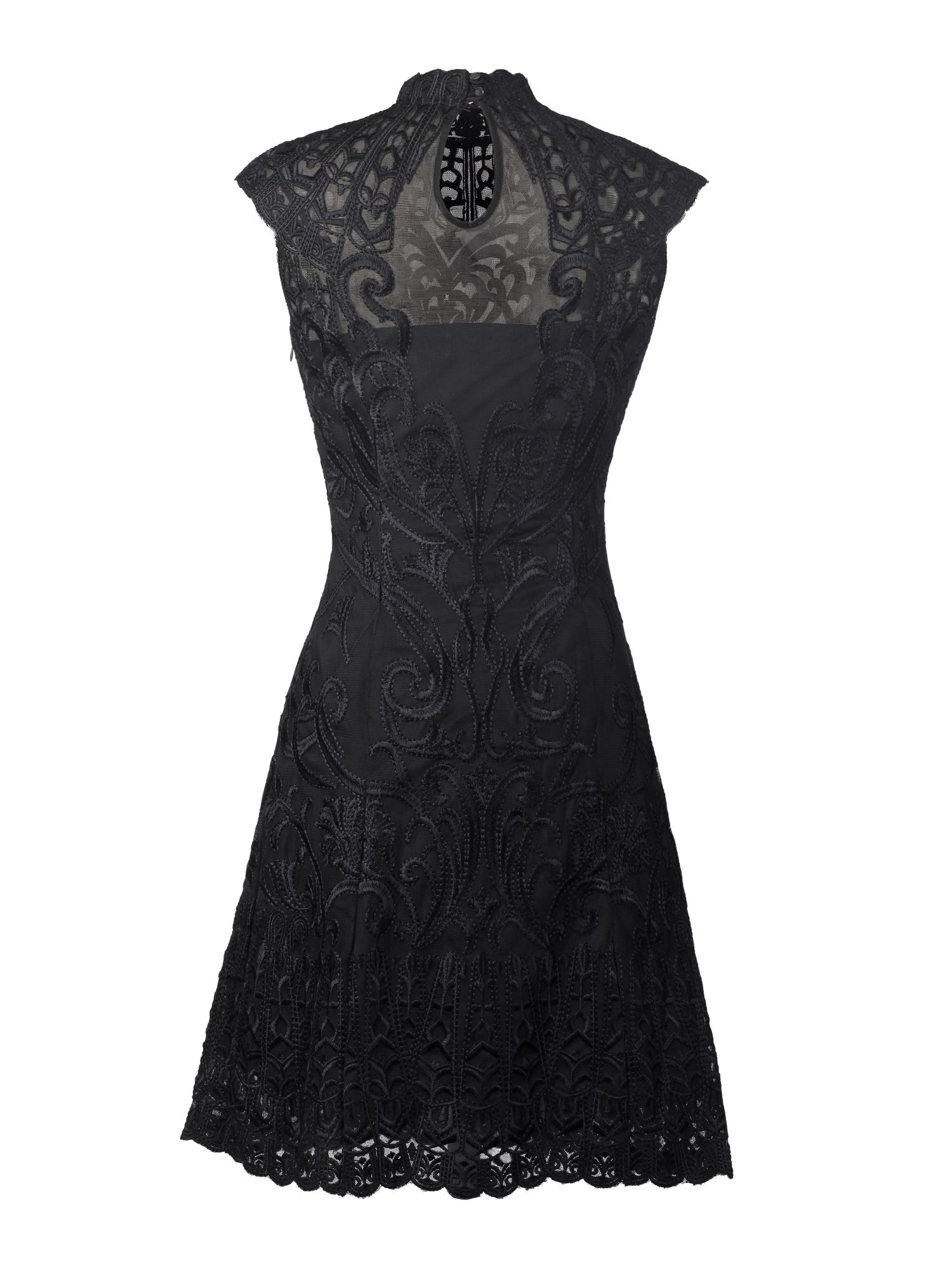 Lace embroidery A line dress