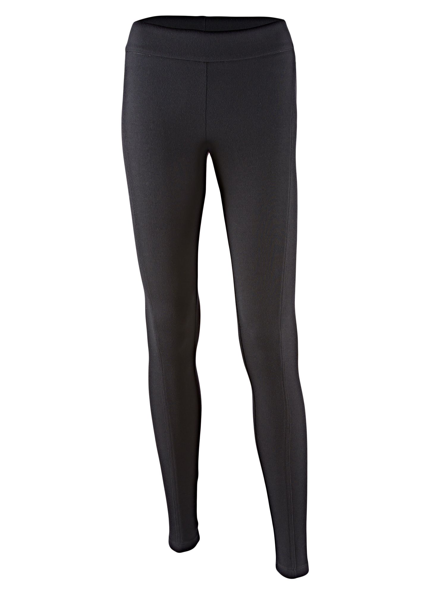 Fitted wool panelled leggings