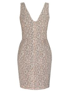 Yanny London Sweetheart neckline lace dress