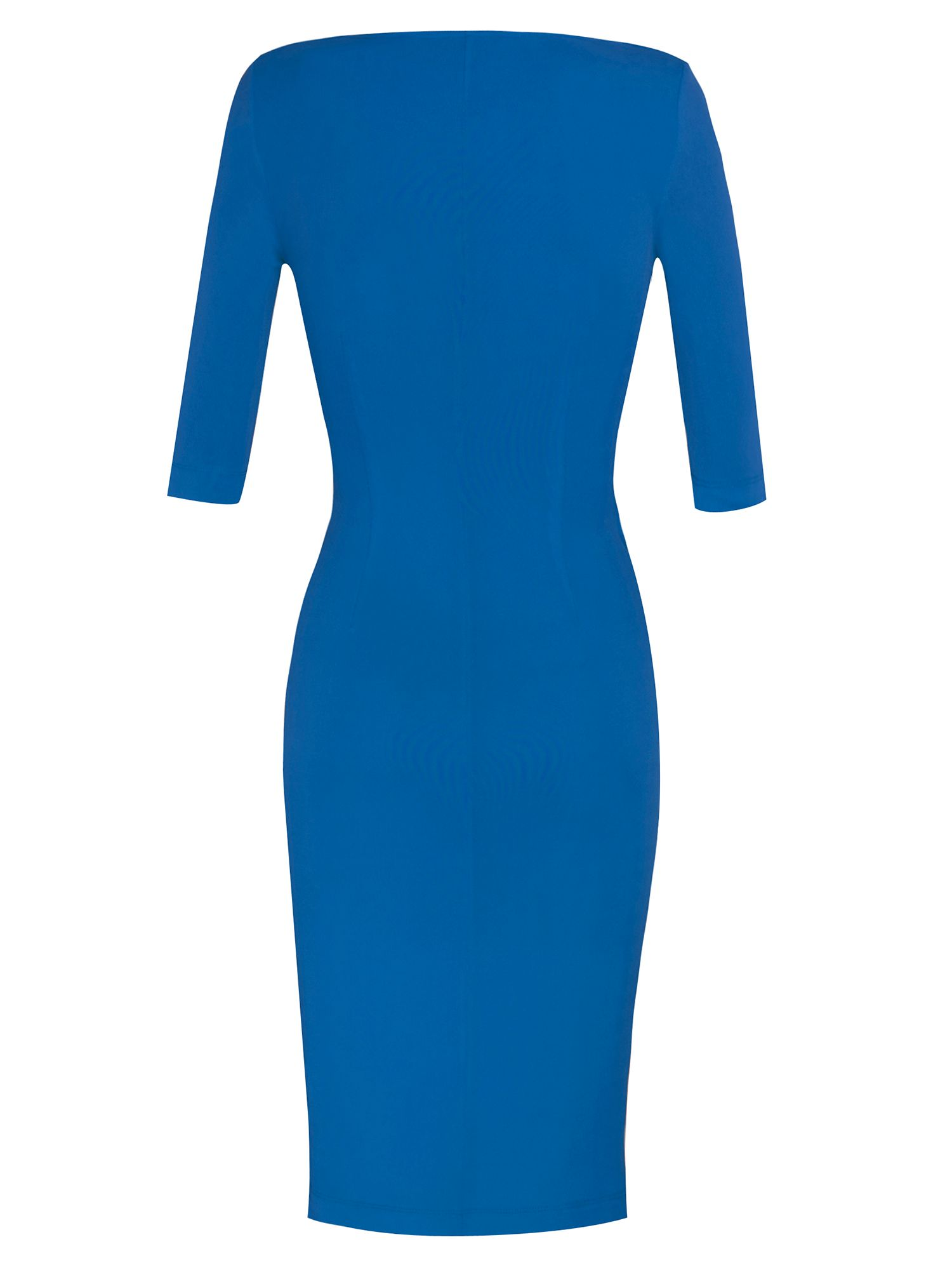 3/4 sleeve wrap jersey dress