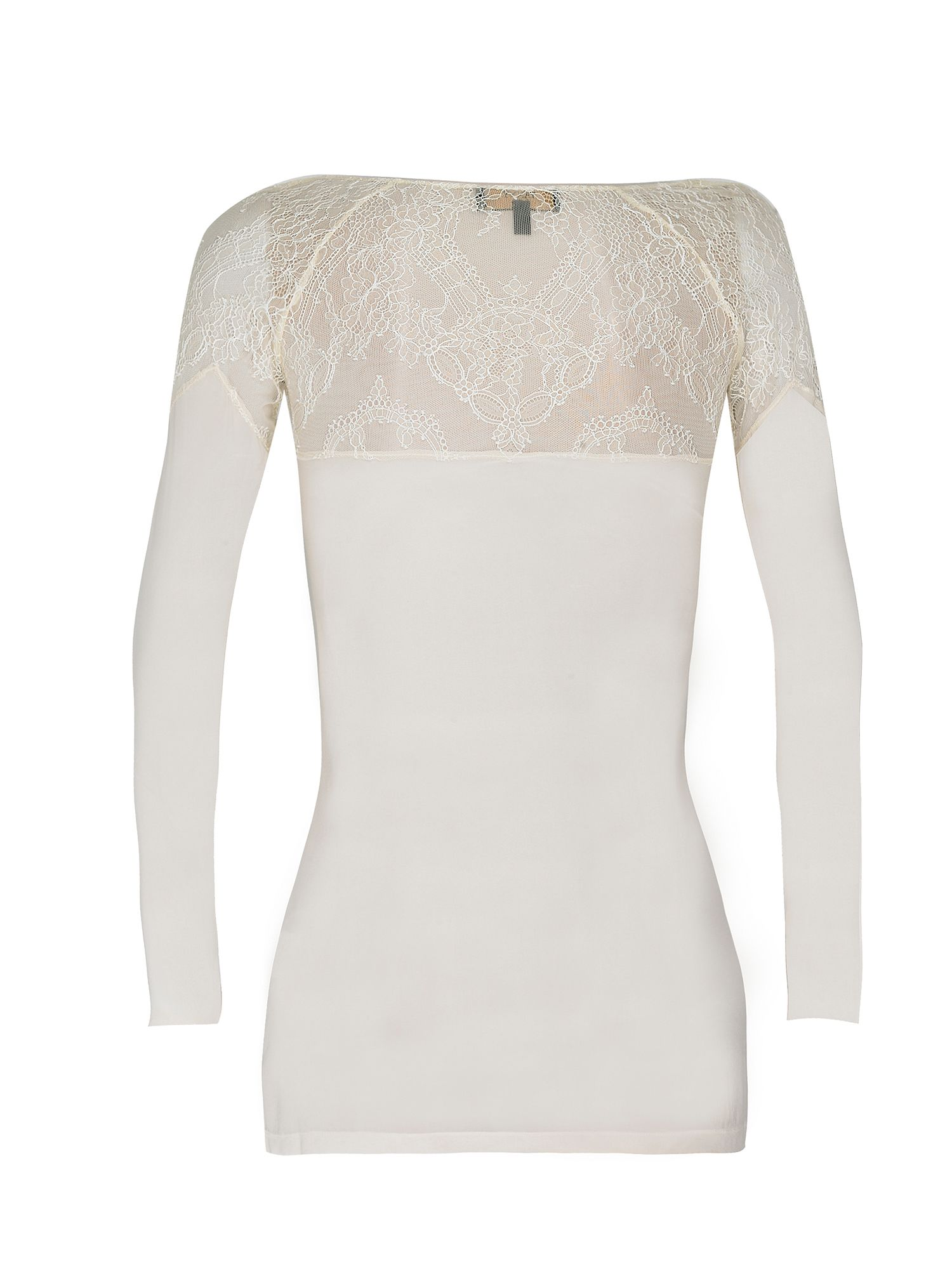 French chantilly lace and silk top
